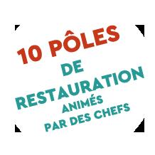 Roquefort en fête poles de restauration animés par des chefs