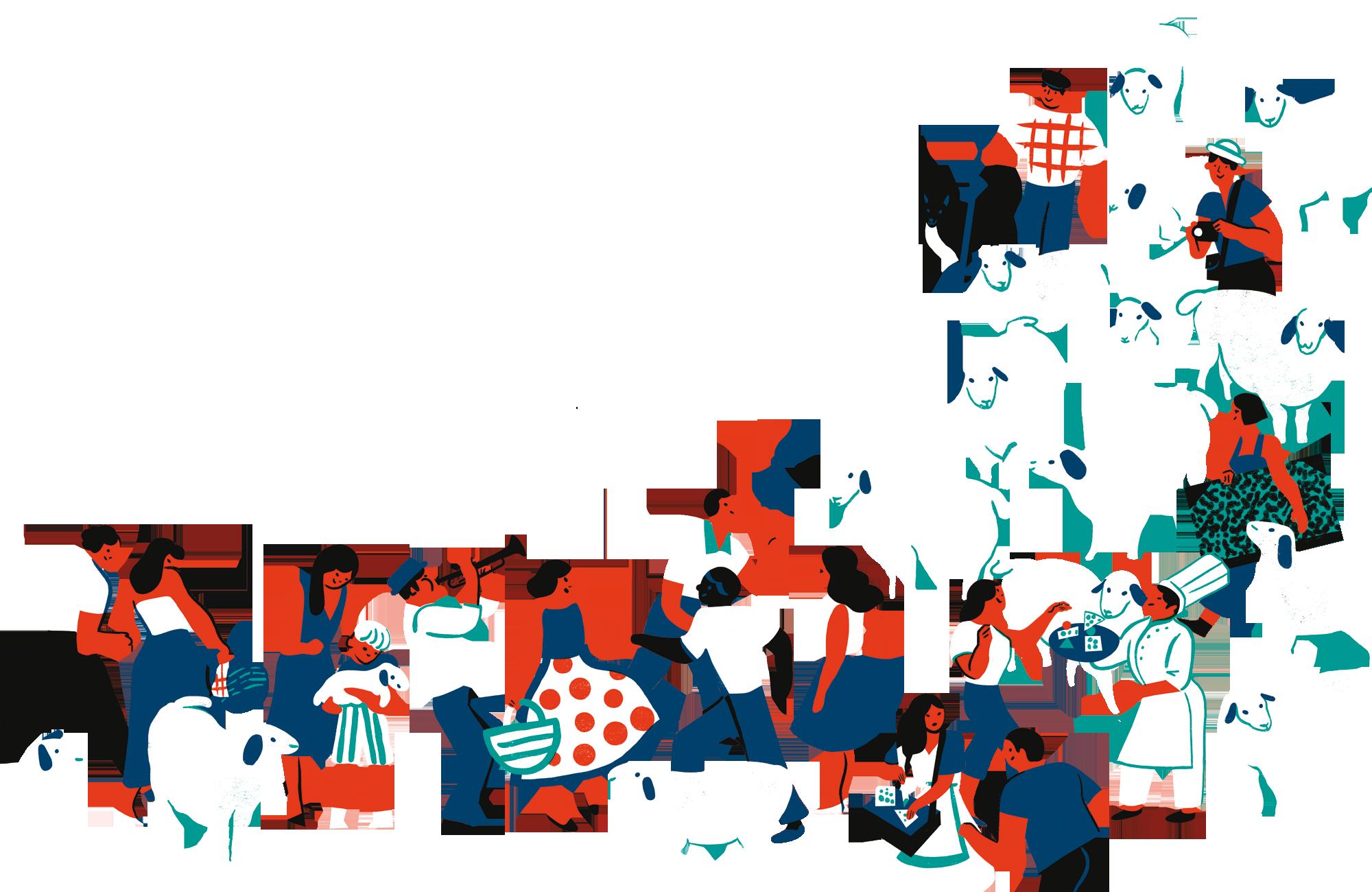 Roquefort territoire en fête illustration confédération générale roquefort
